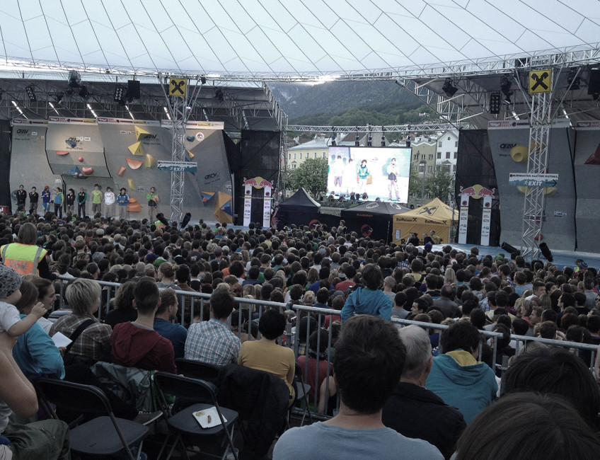 Boulderweltcup in Innsbruck