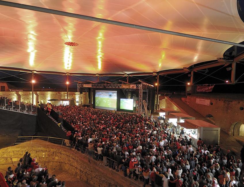 Public Viewing bei der EM 2008